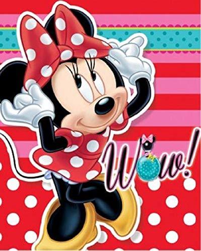 SETINO 720-770 Disney Minnie Maus Fleece Decke Kuscheldecke Tagesdecke 100x140cm