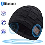 EverPlus Bluetooth Beanie for Men Bluetooth Hat,Beanie Headphones,Cool Xmas Gifts for Men Black