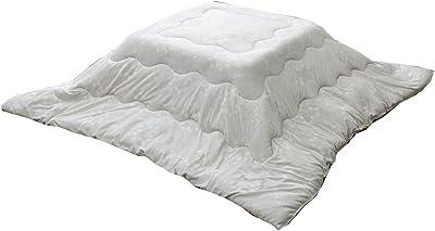 イケヒコ こたつ布団 正方形 掛け単品 洗える 北欧 もちもちタッチ 『レティス』 グレー 約190×190cm 5525709