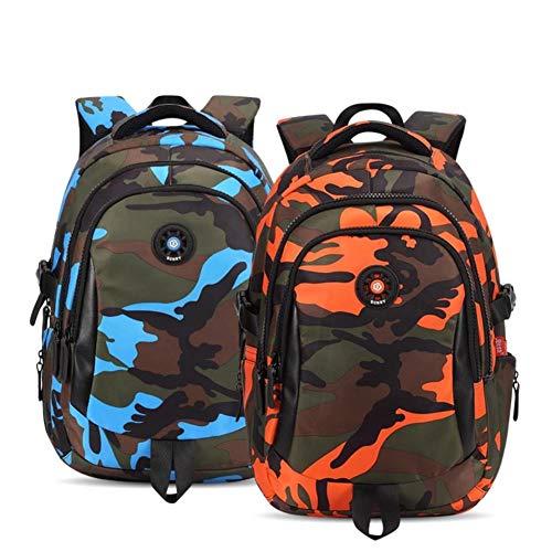 XMYNB School bag Camouflage Waterproof Nylon School Bags For Girls Boys Orthopedic Children Backpack Kids Bag Grade 1-6,S Yellow