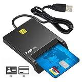Lector de Tarjeta Inteligente, DOD Military USB-C CAC Lector de Tarjeta de Memoria de Acceso común Chip Bank Compatible con Windows XP/Vista/10/8.1/8/7/Mac OS Plug y Play
