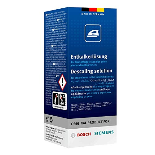 Bosch TDZ1101 Entkalkerlösung (4 x 0,25 ml, für eine ergiebige Reinigung und hohe Gerätelebensdauer, für TDA30/TDA50/TDA70/TDA75/TDI90/TDI95)