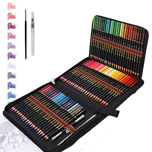 Aquarell Buntstifte für Kinder und Erwachsene, 72 Aquarellstifte Bleistifte Set für fachkundige Schichtung, Mischung und Schattierung, Perfekt zum Färben und Erstellen von Gemälden