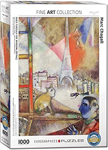 EuroGraphics Marc Chagall Paris Through The Window Puzzle (1000 Piece) by EuroGraphics