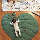 DOTBUY Krabbeldecke für Baby, Krabbeldecke Kinder Kuschelige Cartoon Spielmatte Teppich Baumwolle Crawl für Gym Kinderzimmer Aktivität Dekoration - Herzförmig & Blätter...
