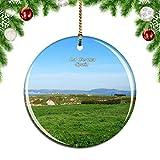Weekino España Monte de San Pedro La Coruña Decoración de Navidad Árbol de Navidad Adorno Colgante Ciudad Viaje Colección de Recuerdos Porcelana 2.85 Pulgadas