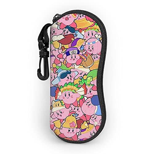 Gioco Kirby Ultra-Leggero Portatile Neoprene Zip Hard Shell Occhiali Caso Con Moschettone Occhiali Da Sole Caso Per Uomo Donna