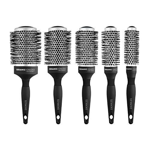 T4B LUSSONI Brosse A Cheveux Ronde Pour Styling Cheveux Longs (SET 5 PCS)