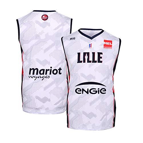LMBC Lille - Maglia Ufficiale da Basket 2018-2019, Unisex, Unisex, MAILDOMLMBC, Bianco, XS