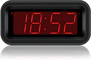 Kwanwa Travel Digital Alarm Clock Small Battery Operated LED Number Display 1.2' Kids Teens Adults (Sparkling Version)