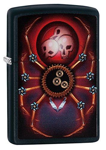 Zippo Mechanical Steampunk Spider Lighter, Metal, Black, One Size
