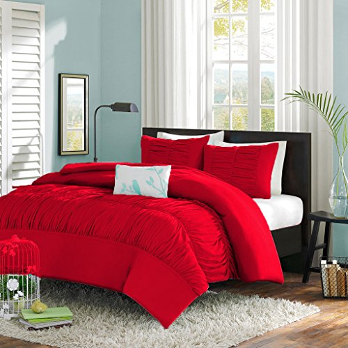 SCALA Bedding Bettbezug/Tagesdecke, 600 cm, ägyptische Baumwolle, Rot