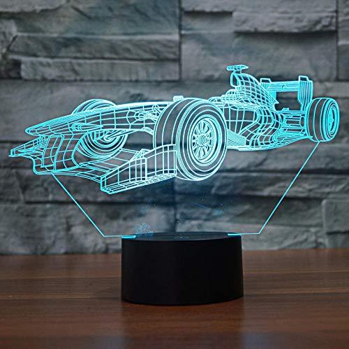 3D LED Nachtlicht Rennen Hologramm Illusion Schreibtisch Lampe Steuerung Farbe variable Nachtlicht Kinder Geschenk Nachttischlampe advent calendar 2021 DUYAO00