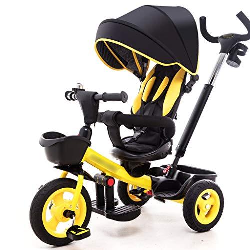 BLWX - Kinder Dreirad Fahrrad Baby Fahrrad 1-3-5 Jahre alt Zwei-Wege Sitzen leichte leichte Kombi Kinderwagen (Farbe : C)