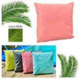 heimtexland ® Outdoorkissen Dekokissen Lotus Effekt Schmutz- und Wasserabweisend Garten Outdoor...