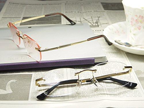 累進多焦点遠近両用老眼鏡(境目のない遠近両用メガネ) R-2146 2色 7度数 (+2.50, ブラウンハーフレンズ)