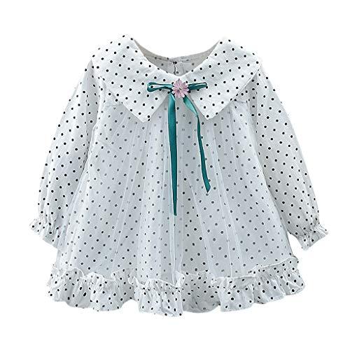 Unbekannt  Allence Kleinkind Baby Mädchen Kleidung Babykleidung Floral Bow Outfits Kleid Mädchen Blumenkleidung Lange Hülsen Kleid Langarm Kleidung Blumendruck Prinzessin Kleider