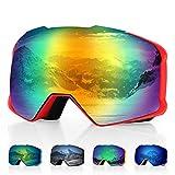 DISUPPO Snowboard Goggles, Ski Goggles with Hyperboloid Anti-Fog Dual Lens,Winter Snow Sports Goggles 100%...
