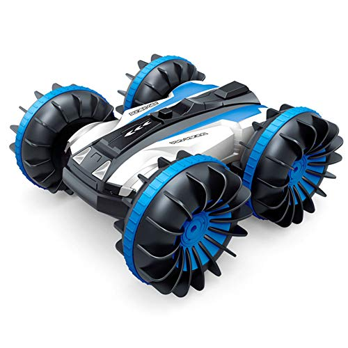 Ferngesteuertes Auto Amphibien, 2,4 GHz, 4 WD 1:18, RC Auto, doppelseitig, wasserdicht, mit drehbarem Wasserfall und Vollrädern, für Jungen und Mädchen