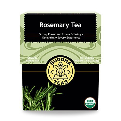 Buddha Teas Organic Rosemary Tea | 18 Bags | Cognitive Stimulant | Improves Memory | Antioxidants | Anti-Inflammatory | Made in the USA