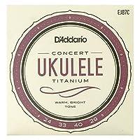 D'Addario EJ87C Titanium Ukulele コンサートウクレレ用セット弦×3SET