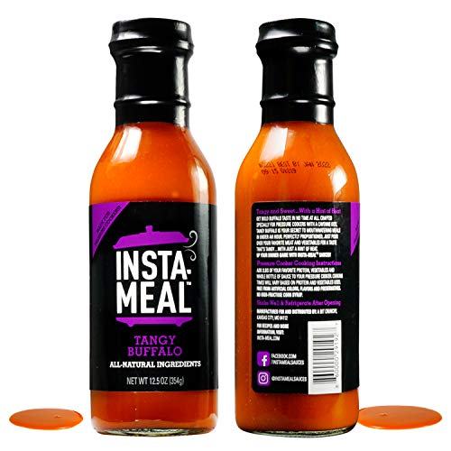 Insta-Meal Instant Pot Compatible Sauce, Tangy Buffalo Wing Cooking Starter - Fast & Easy Chicken Recipes for Beginners & Beyond | Fresh & Healthy, No Prep, 5 Ingredient One-Pot Pressure Cooker Meals