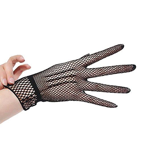 TEBAISE Damen Schöne Hochwertige Spitze Sommer Sonnenschutz Handschuhe Netzhandschuhe spitzenhandschuhe Brauthandtuche
