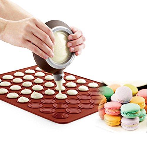 Macarrones hornear Set - que adorna la pluma Consejos formación de hielo con 4 boquillas + 1 x Bandeja de horno de pastelería