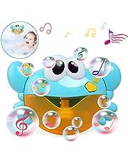 LinStyle Juguetes del Baño, Máquina de Burbujas de Baño con 12 Música Burbuja Automática Juguetes del Baño Azul Cangrejo Maquina de Burbujas para Niños