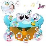 LinStyle Bagnetto Macchina a Bolle, Musica bagnoschiuma Giocattolo per Bambini con 12 Classic filastrocche Bubble Machine Automatica Granchio Giocattoli da Bagno