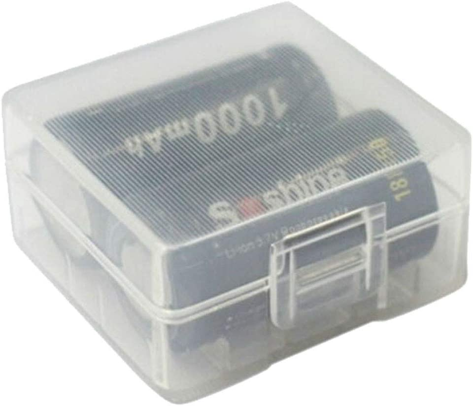 GorNorriss Electronics Gadgets Transparent Hard Plastic Battery Case Box Holder for 2 x 18350 Battery