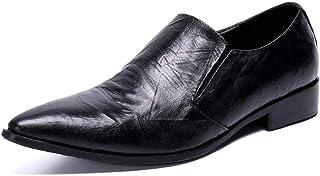YOWAX Zapatos de los Hombres Zapatos de Cuero de los Zapatos de Moda de Vestir Casuales Martin Personalizada Occidental de...