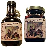 Montana Huckleberry Wine Syrup Jam - 2 Pack Gift Set of our Our Infused Hootch - Hand Harvested for...