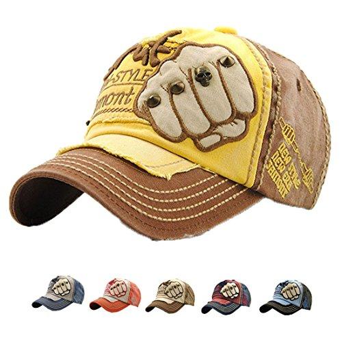 LAOWWO LAOWWO Baseballkappe, Vintage Style Baseballkappen, Fashionable Retro Unisex Cap, Baumwolle, Summer Sun Hat für Sport, Reisen, Outdoor, Freizeitverstellbare Kappen