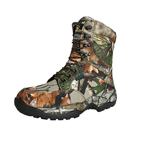 R RUNFUN Men's Lightweight Waterproof Hunting Boot Camo