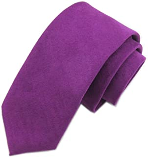 Elfeves Men's Skinny Tie Causal Wool Cashmere Blend Solid Color Slim cut Necktie