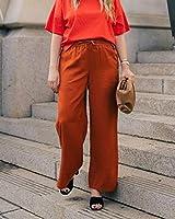 The Drop Pantalones para Mujer sin Cierre con Abertura Lateral, Canela, por @graceatwood,S