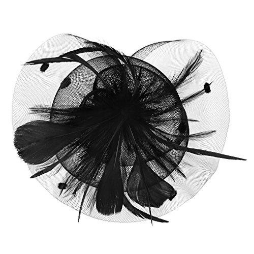 Damen Fascinator, Braut Feder, Patei Blumen Kopfschmuck, Garn Braut Haarschmuck, Hochzeit Haar Clip Hut Stirnband, Haarclip Hairpin Haarband für Party Kirche Hochzeit