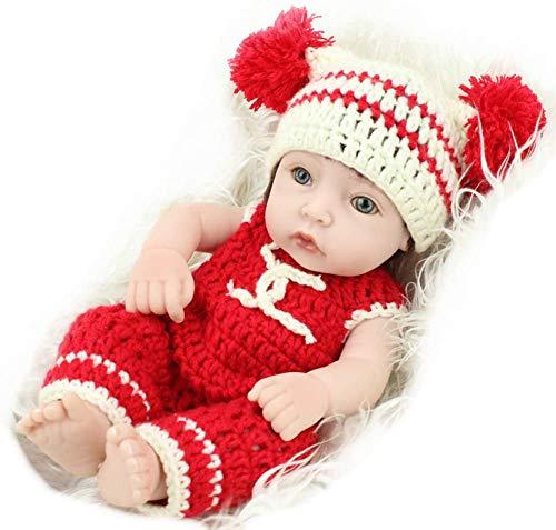 NMQQ Reborn Babypuppen Mehr Haar Weiche Silikon Vinyl Lebensechte Mädchen Puppe Neugeborenen Realistische Babys Spielzeug Geschenk