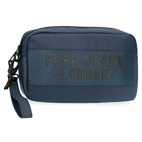Pepe Jeans Bromley Bolso de Mano Azul 24,5x15x6 cms Poliéster