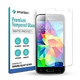smartect Cristal Templado para Móvil Samsung Galaxy S5 mini [MATE] - Protector de pantalla 9H - Diseño ultrafino - Instalación sin burbujas - Anti-huella