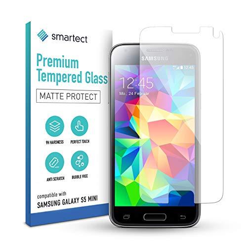 smartect Mattes Panzerglas kompatibel mit Samsung Galaxy S5 mini [MATT] - Tempered Glass mit 9H Härte - Blasenfreie Schutzfolie - Anti Fingerprint Panzerglasfolie