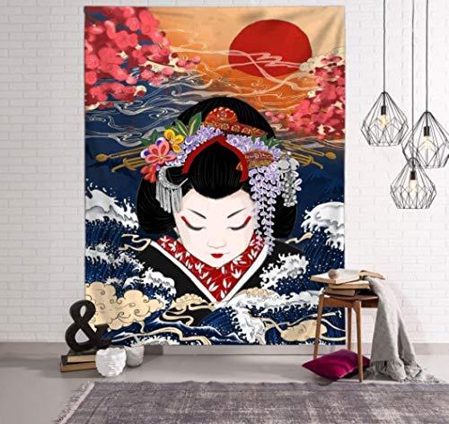 Manta japonesa grande tapiz ballena arowana dragón phoenix tótem pared colgante bohemia cama manta decoración del hogar tapiz