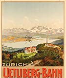 Herbé TM UETLIBERG-Bahn Zürich RTY Poster / Kunstdruck 50