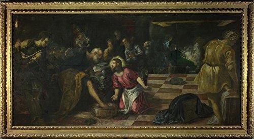 Das Museum Outlet–Jacopo Tintoretto–Christus Waschen Die Füße der Jünger–Poster Print Online kaufen (152,4x 203,2cm)