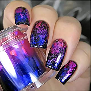 Violet Purple Blue Starlight Cut Glass Geometric Shapes Mirror Laser Nail Decals Holographic Rainbows Nail FOILS Trippy Psychedelic Celestial Flowers Nail Wraps Hippie Decor Nail Art Stickers