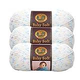 (3 Pack) Lion Brand Yarn 920-293 Babysoft Yarn, Twinkle Print