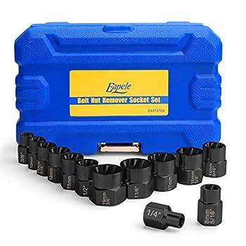 Eapele Impact Bolt Nut Removal Extractor Socket Tool Set  13pcs