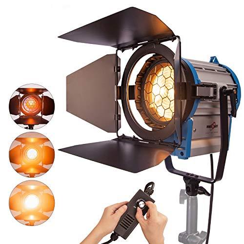 Profesional Fresnel de tungsteno Luz Continua como ARRI Pro Video luz del Punto 1000W