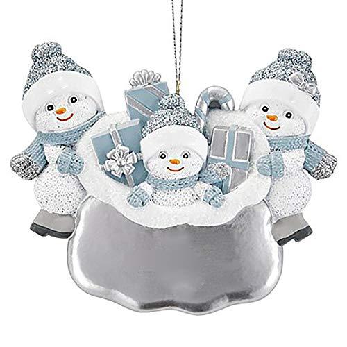 SUPERHUA 2020 decoración navideña de cuarentena DIY personalizado muñeco de nieve árbol de Navidad colgante adorno colgante para bendiciones familiares